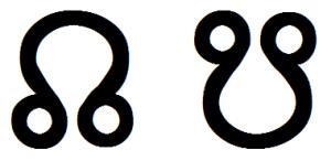 astrological node glyphs