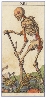 Death card from the Classic Tarot.