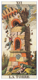 Tower card from the Classic Tarot.