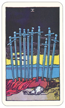 Waite-Smith Ten of Swords