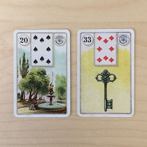 Garden and Key Lenormand cards