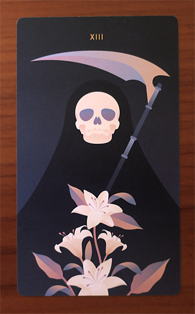 Death card from Seventh Sphere Tarot de Marseille